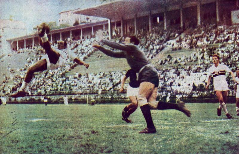 Gol de Leônidas contra o Juventus, esse é gol está eternizado no museu  do SPFC