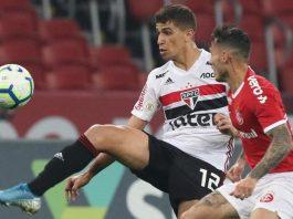 """Vitor Bueno comemora contratação definitiva pelo São Paulo: """"Me sinto em casa"""""""